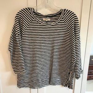 Madewell Striped 3/4 sleeve top